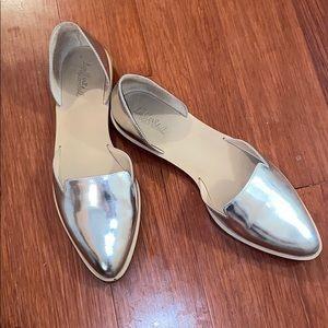Loeffler Randall Silver Metallic Flats
